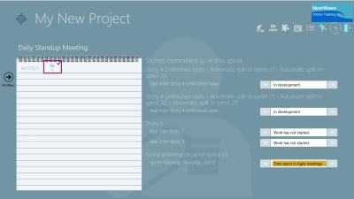 ScrumMaster Change Task Status Agile Daily Standup