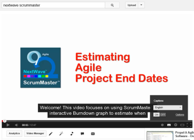 NextWave ScrumMaster Video: Estimating Agile Project End Dates
